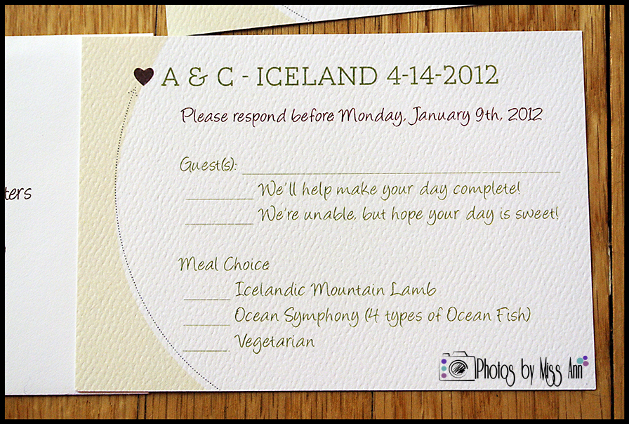 Destination Wedding RSVP Cards | Iceland Wedding Planner and ...