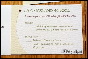 Destination Wedding RSVP Cards