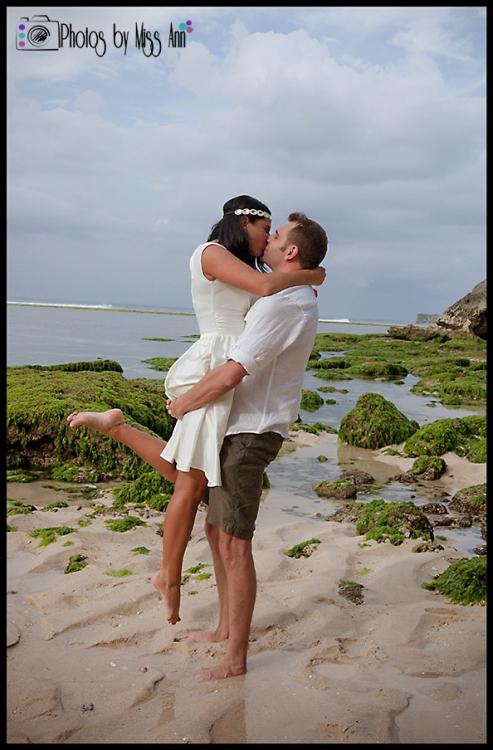 Bali Wedding Photographer Photos by Miss Ann Wedding at Padang Padang Beach