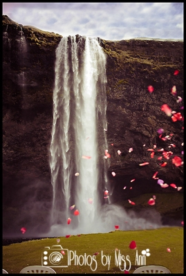 Seljalandsfoss Waterfall Wedding Portraits