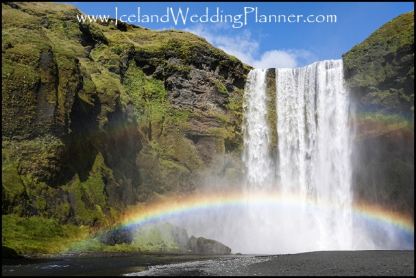 Skogafoss Wedding Photography and Iceland Wedding Planning