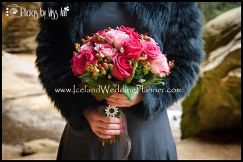 Vik Beach Wedding Photography Iceland Bridal Bouquet