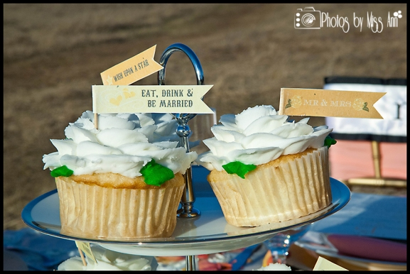 Eat Drink Be Married Cupcake Banners Iceland Wedding Details by Iceland Wedding Planner