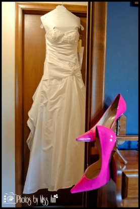 Hot Pink Bridal Shoes Iceland Wedding Accessories
