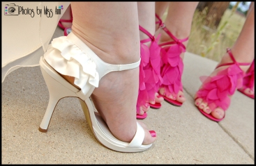 Iceland Bridal Shoes Ruffle Wedding Shoes White and Pink Wedding Iceland