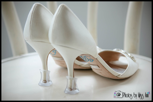 Iceland Wedding Shoes with Solemates On