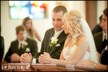 Iceland Wedding Couple share a moment during their ceremony Iceland Wedding Photographer Photos by Miss Ann