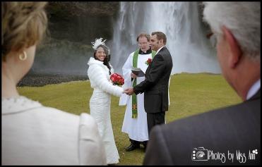 Iceland Wedding Photos Wedding at Seljalandsfoss Hotel Ranga Photos by Miss Ann