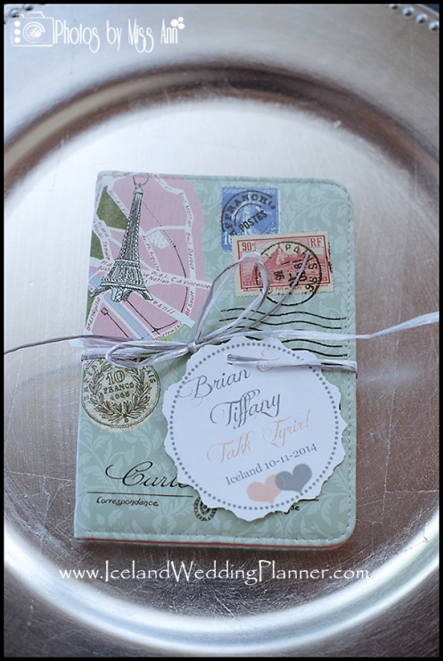 Passport Wedding Favor Iceland Wedding Favor Destination Wedding Favor