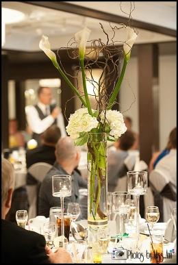 Unique Cala Lily Centerpiece Wedding Reception Webers Ann Arbor