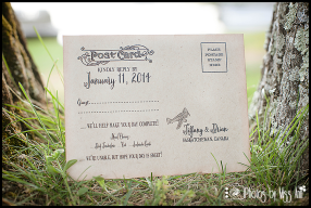 Destination Wedding Reply Card Ideas Vintage Plane Post Card Photos by Miss Ann