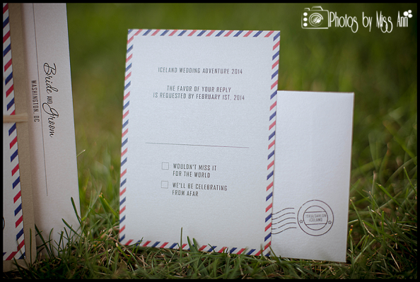 Destination Wedding Reply Card Jokulsarlon Glacial Lagoon Wedding Photographer