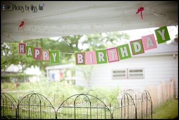 Handmade Cardboard Happy Birthday Sign
