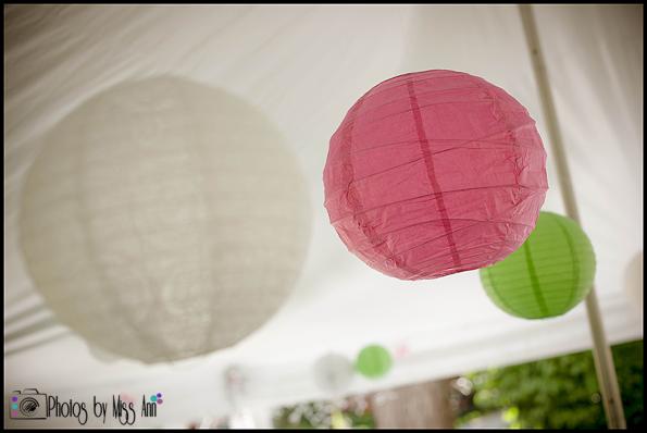 Iceland Wedding Event Details Paper Lanterns under Pole Tent