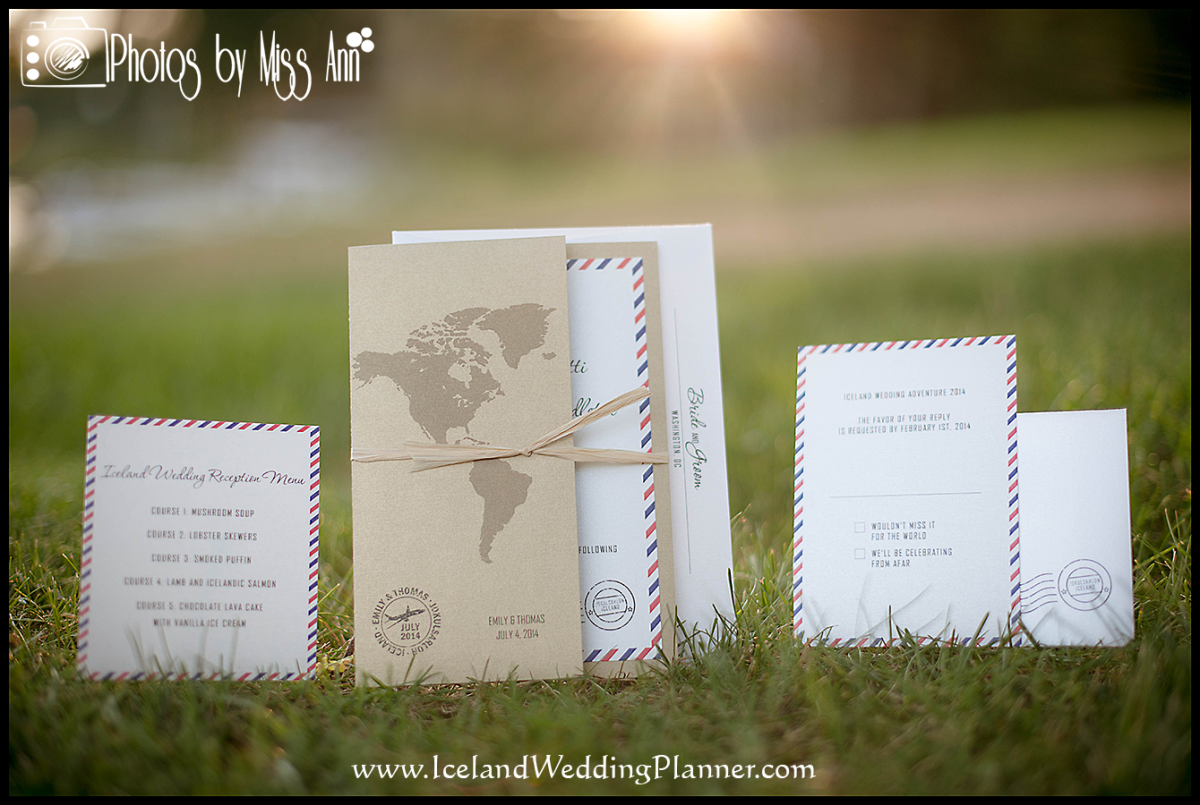 Parts Of Wedding Invitation: Creative Destination Wedding Invitations For Iceland