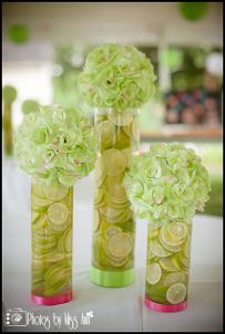 Lime and Rose Centerpieces Wedding Reception Photos Iceland Wedding Photographer
