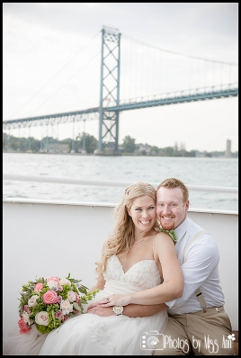 Ambassador Bridge Wedding Photos Infinity Yacht Wedding Photographer Photos by Miss Ann