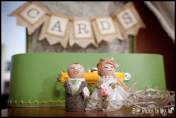 DIY Iceland Wedding Details Handmade Cake Topper and Card Box
