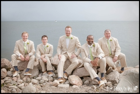 Groom and Groomsmen Wedding Photos by the Water Iceland Wedding Photographer Photos by Miss Ann