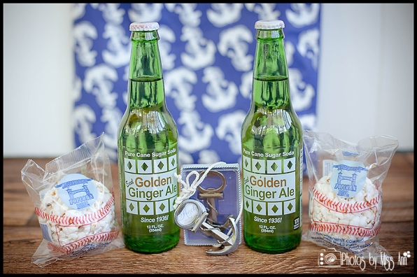 Infinity Yacht Wedding Michigan Wedding Favors Golden Ginger Ale Boat Wedding Favors Photos by Miss Ann
