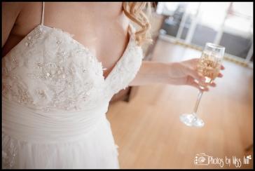 Romantic Garden Theme Bridal Dress Infinity Yacht Wedding Photos by Miss Ann