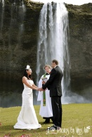 Seljalandsfoss Waterfall Wedding Photographer Iceland Photos by Miss Ann