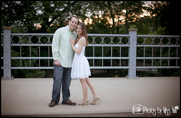 Sunset Engagement Photos at Michigan State University Photos by Miss Ann