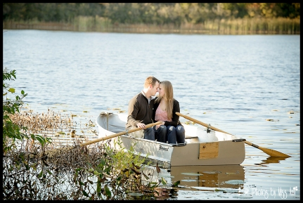 Boatloads of Love on this Row Boat Engagement Session on Whitmore Lake
