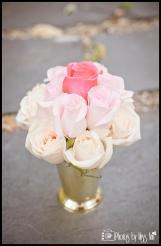 Iceland Wedding Planner Gold Mint Julep Pink Wedding Centerpiece