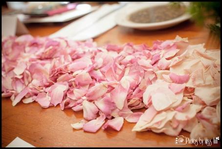 Ombre Pink Petal Design for Table Runner Iceland Wedding Planner