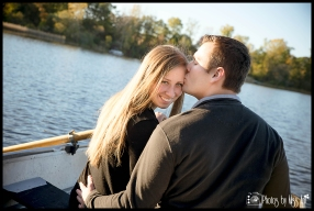 Romantic Engagement Session on a Row Boat by Photos by Miss Ann Michigan and Iceland Wedding Photographer
