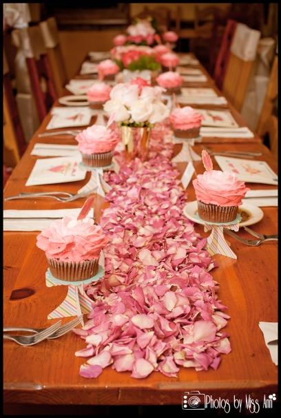 Rose Petal Table Runner Iceland Wedding Planner Iceland Wedding Photographer Photos by Miss Ann