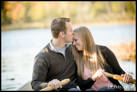 Row Boat Engagement Session Whitmore Lake Michigan Photos by Miss Ann
