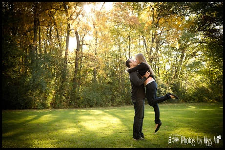 Running Jump Kiss Whitmore Lake Engagement Session