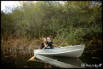 Secret Garden Engagement Session Row Boat Session in Michigan