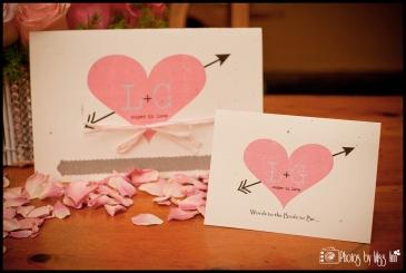 Unique Bridal Shower or Bachelorette Party Details Words to the Bride Card