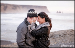 Dyrholaey Cliffs Snowy Iceland Engagement Session Iceland Wedding Planner Photos by Miss Ann