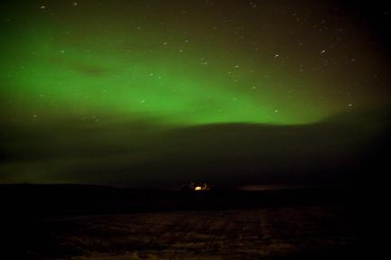 Iceland Northern Lights Photos at Hotel Laekur Hella Iceland