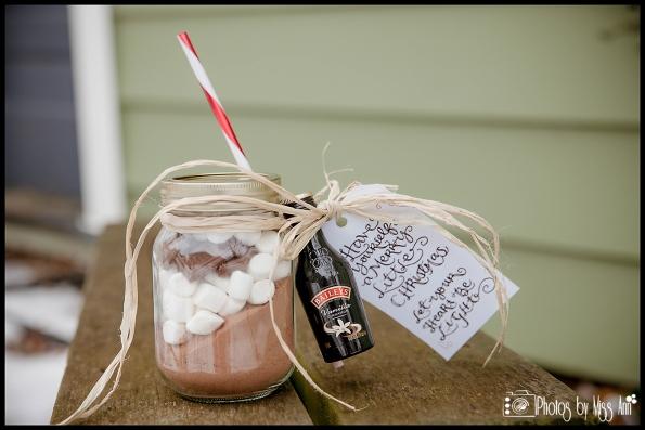 Unique Winter Destination Wedding Favors Hot Chocolate DIY Wedding Favors