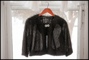 Bridal Jacket for Icelandic Wedding Black Mohair Sweater