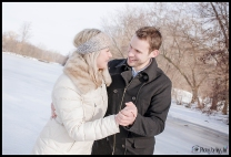 Ice engagement session Michigan Winter Engagement Session Ann Arbor