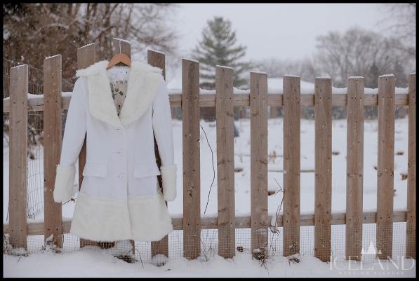 Iceland Wedding Dress White Fur Trim Bridal Coat Iceland Wedding Planner