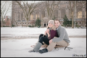 Sledding Engagement Session Photos Ann Arbor Michigan Weddind Photographer Photos by Miss Ann