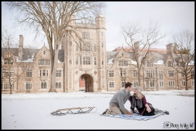 Snowy winter picinic engagement session idea Ann Arbor Michigan Engagement Session PBMA