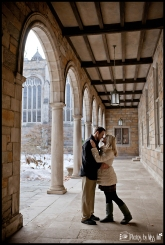 U of M Law Quad Engagement Session Ann Arbor Wedding Photographer