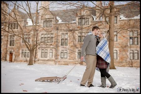 Winter Engagement Session Ann Arbor Michigan