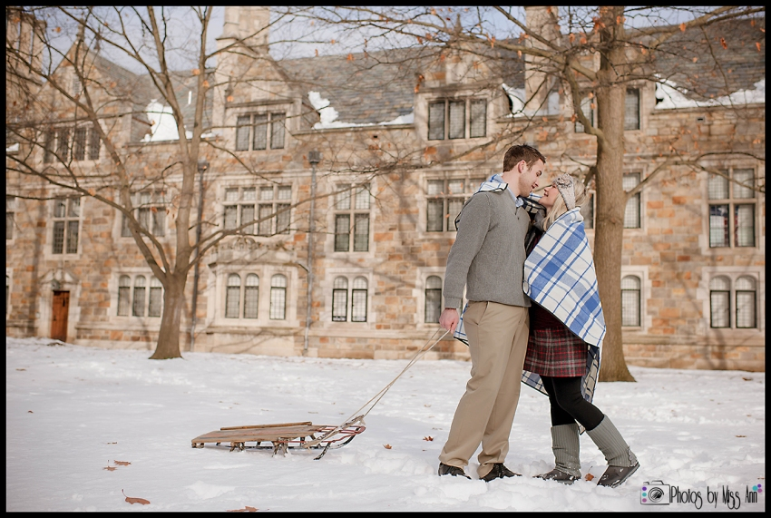 Winter Engagement Session Ann Arbor Michigan