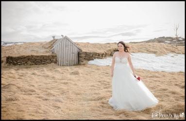 Bride at Thingvellir National Park Iceland Wedding Photographer Photos by Miss Ann