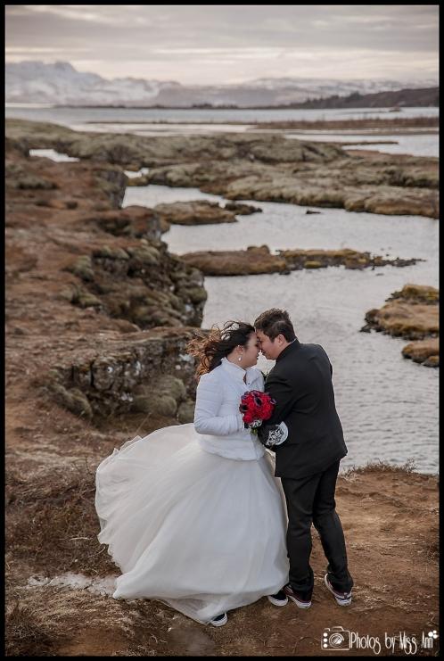 Dreamy Iceland Wedding Photos Thingvellir Silfra Fissure Wedding