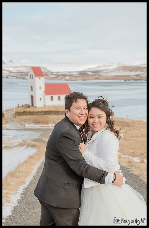 Iceland Elopement of Singapore Couple Iceland February Wedding